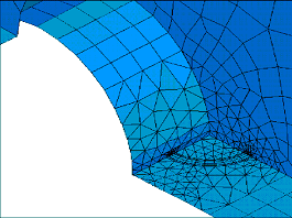 Finite element analysis of a corner crack